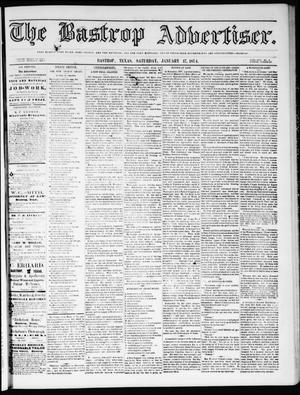 Primary view of object titled 'The Bastrop Advertiser (Bastrop, Tex.), Vol. 17, No. 8, Ed. 1 Saturday, January 17, 1874'.