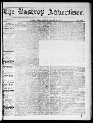 Primary view of object titled 'The Bastrop Advertiser (Bastrop, Tex.), Vol. 17, No. 9, Ed. 1 Saturday, January 24, 1874'.