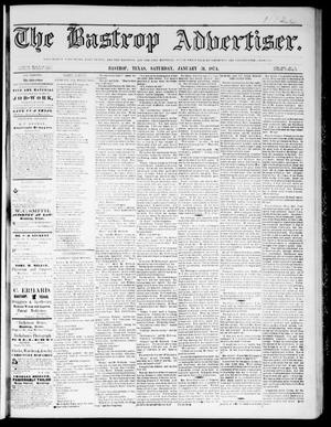 The Bastrop Advertiser (Bastrop, Tex.), Vol. 17, No. 10, Ed. 1 Saturday, January 31, 1874