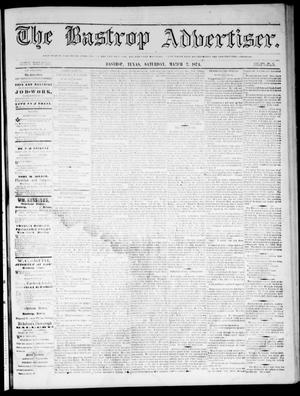 Primary view of object titled 'The Bastrop Advertiser (Bastrop, Tex.), Vol. 17, No. 15, Ed. 1 Saturday, March 7, 1874'.