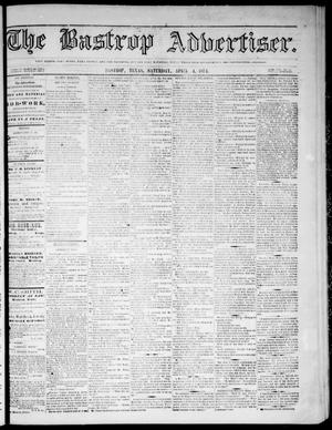 Primary view of object titled 'The Bastrop Advertiser (Bastrop, Tex.), Vol. 17, No. 19, Ed. 1 Saturday, April 4, 1874'.