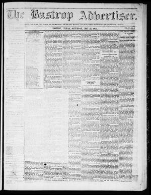 Primary view of object titled 'The Bastrop Advertiser (Bastrop, Tex.), Vol. 17, No. 26, Ed. 1 Saturday, May 23, 1874'.