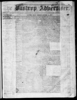 Primary view of object titled 'The Bastrop Advertiser (Bastrop, Tex.), Vol. 17, No. 48, Ed. 1 Saturday, October 24, 1874'.