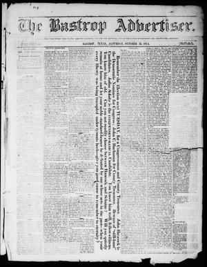 Primary view of object titled 'The Bastrop Advertiser (Bastrop, Tex.), Vol. 17, No. 49, Ed. 1 Saturday, October 31, 1874'.