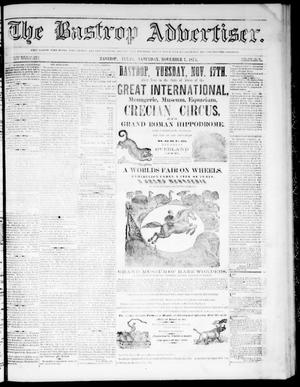 Primary view of object titled 'The Bastrop Advertiser (Bastrop, Tex.), Vol. 17, No. 50, Ed. 1 Saturday, November 7, 1874'.