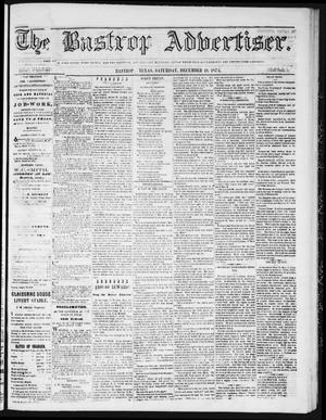 Primary view of object titled 'The Bastrop Advertiser (Bastrop, Tex.), Vol. 18, No. 4, Ed. 1 Saturday, December 19, 1874'.