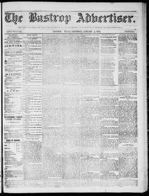 Primary view of object titled 'The Bastrop Advertiser (Bastrop, Tex.), Vol. 18, No. 5, Ed. 1 Saturday, January 2, 1875'.