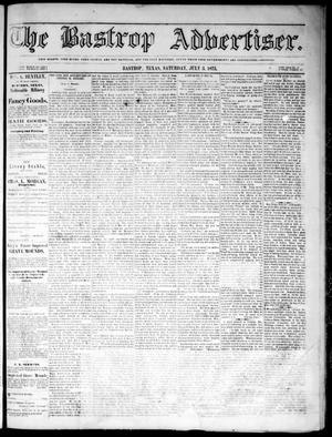 Primary view of object titled 'The Bastrop Advertiser (Bastrop, Tex.), Vol. 18, No. 30, Ed. 1 Saturday, July 3, 1875'.