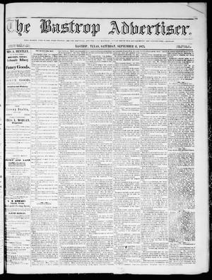 Primary view of object titled 'The Bastrop Advertiser (Bastrop, Tex.), Vol. 18, No. 43, Ed. 1 Saturday, September 11, 1875'.