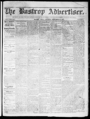 Primary view of object titled 'The Bastrop Advertiser (Bastrop, Tex.), Vol. 18, No. 44, Ed. 1 Saturday, September 18, 1875'.