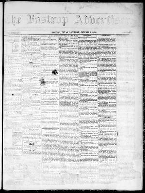 Primary view of object titled 'The Bastrop Advertiser (Bastrop, Tex.), Vol. 19, No. 7, Ed. 1 Saturday, January 1, 1876'.