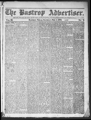 Primary view of object titled 'The Bastrop Advertiser (Bastrop, Tex.), Vol. 22, No. 9, Ed. 1 Saturday, February 1, 1879'.