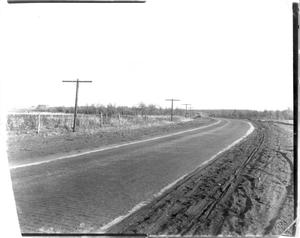 Primary view of object titled '[The Brick Road East of Mineral Wells]'.