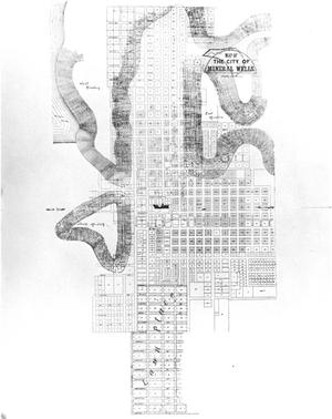 Primary view of object titled 'A Map of the City of Mineral Wells'.