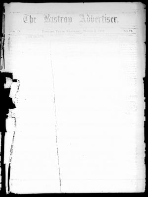 Primary view of object titled 'The Bastrop Advertiser (Bastrop, Tex.), Vol. 24, No. 12, Ed. 1 Saturday, March 5, 1881'.