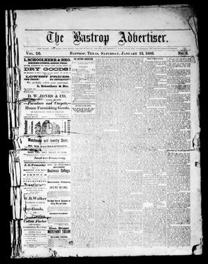 Primary view of object titled 'The Bastrop Advertiser (Bastrop, Tex.), Vol. 26, No. 3, Ed. 1 Saturday, January 13, 1883'.