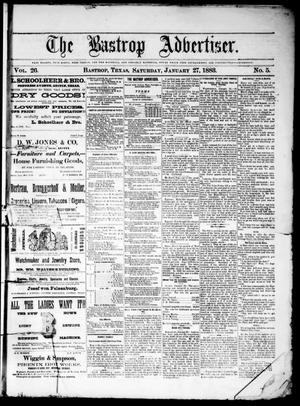 Primary view of object titled 'The Bastrop Advertiser (Bastrop, Tex.), Vol. 26, No. 5, Ed. 1 Saturday, January 27, 1883'.