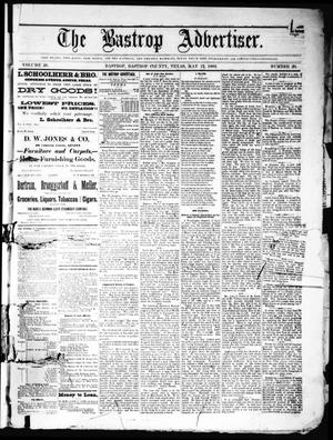 Primary view of object titled 'The Bastrop Advertiser (Bastrop, Tex.), Vol. 26, No. 20, Ed. 1 Saturday, May 12, 1883'.