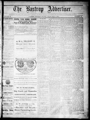 Primary view of object titled 'The Bastrop Advertiser (Bastrop, Tex.), Vol. 27, No. 19, Ed. 1 Saturday, May 3, 1884'.