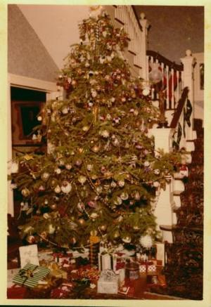 Primary view of object titled '[Moore family Christmas tree]'.