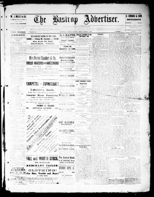 Primary view of object titled 'The Bastrop Advertiser (Bastrop, Tex.), Vol. 32, No. 8, Ed. 1 Saturday, March 9, 1889'.