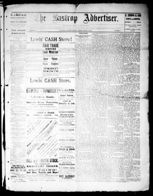 Primary view of object titled 'The Bastrop Advertiser (Bastrop, Tex.), Vol. 32, No. 9, Ed. 1 Saturday, March 16, 1889'.