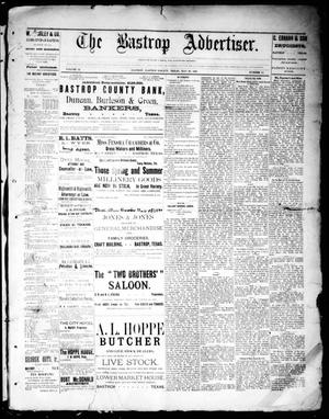 Primary view of object titled 'The Bastrop Advertiser (Bastrop, Tex.), Vol. 32, No. 15, Ed. 1 Saturday, May 25, 1889'.
