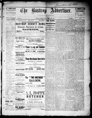 Primary view of object titled 'The Bastrop Advertiser (Bastrop, Tex.), Vol. 32, No. 17, Ed. 1 Saturday, June 8, 1889'.