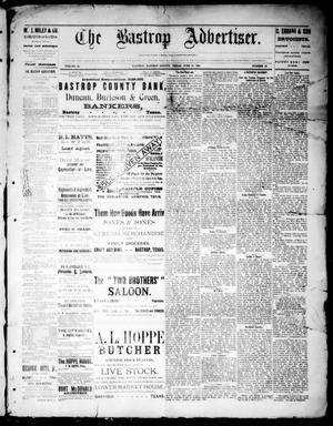 Primary view of object titled 'The Bastrop Advertiser (Bastrop, Tex.), Vol. 32, No. 18, Ed. 1 Saturday, June 15, 1889'.