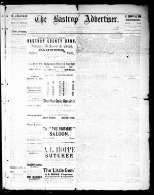 Primary view of object titled 'The Bastrop Advertiser (Bastrop, Tex.), Vol. 32, No. 21, Ed. 1 Saturday, July 6, 1889'.