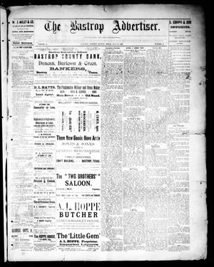 Primary view of object titled 'The Bastrop Advertiser (Bastrop, Tex.), Vol. 32, No. 24, Ed. 1 Saturday, July 27, 1889'.
