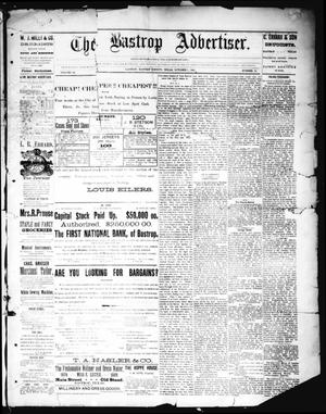 Primary view of object titled 'The Bastrop Advertiser (Bastrop, Tex.), Vol. 32, No. 34, Ed. 1 Saturday, October 5, 1889'.