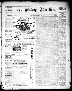 Primary view of object titled 'The Bastrop Advertiser (Bastrop, Tex.), Vol. 33, No. 6, Ed. 1 Saturday, March 8, 1890'.