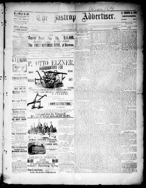 Primary view of object titled 'The Bastrop Advertiser (Bastrop, Tex.), Vol. 33, No. 7, Ed. 1 Saturday, March 15, 1890'.