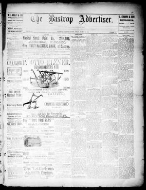 Primary view of object titled 'The Bastrop Advertiser (Bastrop, Tex.), Vol. 33, No. 8, Ed. 1 Saturday, March 22, 1890'.