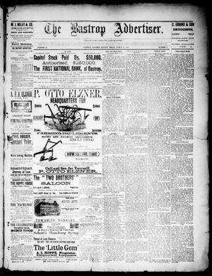 Primary view of object titled 'The Bastrop Advertiser (Bastrop, Tex.), Vol. 33, No. 9, Ed. 1 Saturday, March 29, 1890'.