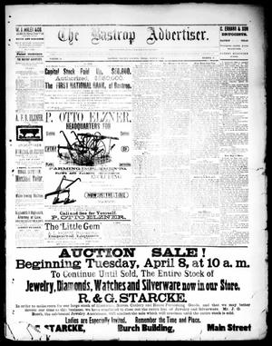 Primary view of object titled 'The Bastrop Advertiser (Bastrop, Tex.), Vol. 33, No. 10, Ed. 1 Saturday, April 5, 1890'.