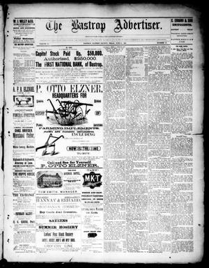 Primary view of object titled 'The Bastrop Advertiser (Bastrop, Tex.), Vol. 33, No. 20, Ed. 1 Saturday, June 14, 1890'.