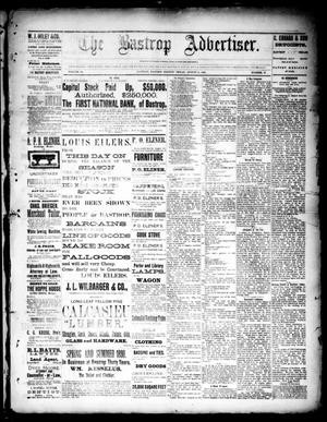 Primary view of object titled 'The Bastrop Advertiser (Bastrop, Tex.), Vol. 33, No. 27, Ed. 1 Saturday, August 2, 1890'.