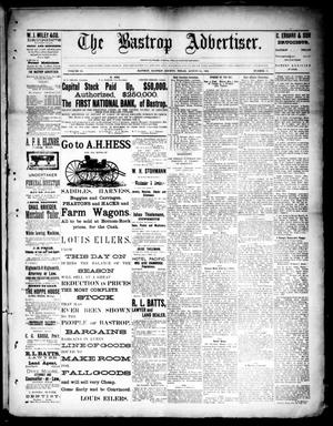 Primary view of object titled 'The Bastrop Advertiser (Bastrop, Tex.), Vol. 33, No. 31, Ed. 1 Saturday, August 30, 1890'.