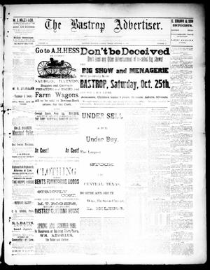 Primary view of object titled 'The Bastrop Advertiser (Bastrop, Tex.), Vol. 33, No. 38, Ed. 1 Saturday, October 18, 1890'.