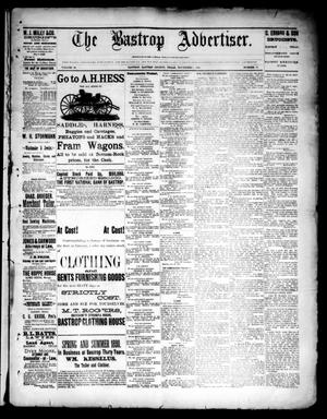 Primary view of object titled 'The Bastrop Advertiser (Bastrop, Tex.), Vol. 33, No. 40, Ed. 1 Saturday, November 1, 1890'.