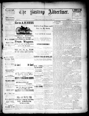 Primary view of object titled 'The Bastrop Advertiser (Bastrop, Tex.), Vol. 33, No. 41, Ed. 1 Saturday, November 8, 1890'.