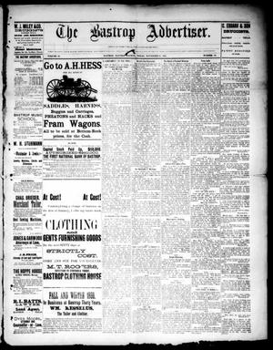 Primary view of object titled 'The Bastrop Advertiser (Bastrop, Tex.), Vol. 33, No. 43, Ed. 1 Saturday, November 22, 1890'.