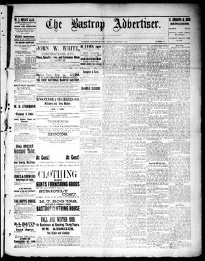 Primary view of object titled 'The Bastrop Advertiser (Bastrop, Tex.), Vol. 33, No. 45, Ed. 1 Saturday, December 6, 1890'.