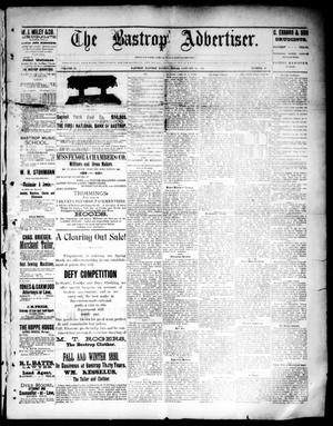 Primary view of object titled 'The Bastrop Advertiser (Bastrop, Tex.), Vol. 33, No. 49, Ed. 1 Saturday, January 10, 1891'.