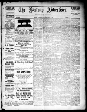 Primary view of object titled 'The Bastrop Advertiser (Bastrop, Tex.), Vol. 33, No. 50, Ed. 1 Saturday, January 17, 1891'.
