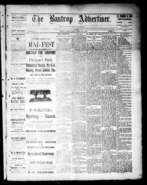 Primary view of object titled 'The Bastrop Advertiser (Bastrop, Tex.), Vol. 34, No. 14, Ed. 1 Saturday, May 9, 1891'.