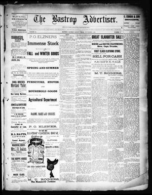 Primary view of object titled 'The Bastrop Advertiser (Bastrop, Tex.), Vol. 34, No. 40, Ed. 1 Saturday, November 7, 1891'.