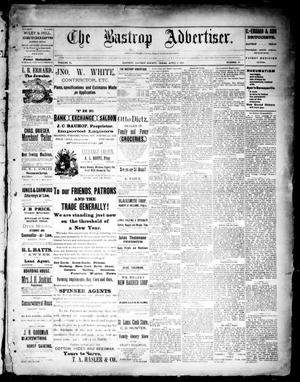 Primary view of object titled 'The Bastrop Advertiser (Bastrop, Tex.), Vol. 34, No. 50, Ed. 1 Saturday, April 2, 1892'.